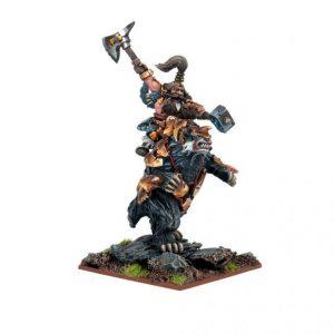 Mantic Kings of War  Dwarf Armies Dwarf Berserker Lord on Brock - MGKWD80-1 - 5060208866308