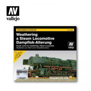 Vallejo   Paint Sets AV Train Color - Steam Engine Weathering Set - VAL73099 - 8429551730990