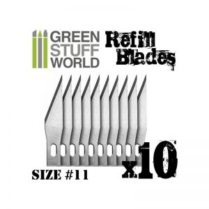 Green Stuff World   Green Stuff World Tools 10x Hobby Knife Blade Refill - 8436554363346ES - 8436554363346