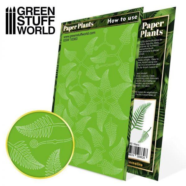 Green Stuff World   Plants & Flowers Paper Plants - Fern - 8436574508628ES - 8436574508628