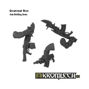 Kromlech   Orc Conversion Parts Greatcoat Arms Holding Guns - KRCB108 - 5902216111066