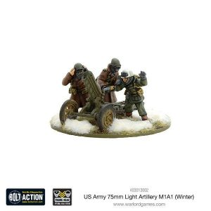 Warlord Games Bolt Action  United States of America (BA) US Army 75mm Light Artillery M1A1 (Winter) - 403013002 - 5060393705789
