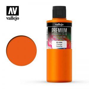 Vallejo   Premium Airbrush Colour AV Vallejo Premium Color - 200ml - Opaque Orange - VAL63004 - 8429551630047