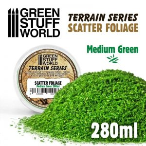 Green Stuff World   Lichen & Foliage Scatter Foliage - Medium Green - 280ml - 8435646500133ES - 8435646500133