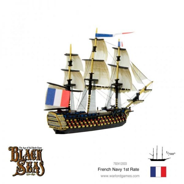 Warlord Games Black Seas  Black Seas Black Seas: French 1st Rate - 792412003 - 5060572505759