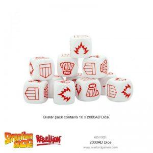 Warlord Games (Direct) Judge Dredd  SALE! 2000 AD Dice Set - 643410001 - 5060572501232