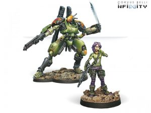 Corvus Belli Infinity  Non-Aligned Armies - NA2 Scarface & Cordelia, Mercenary Armoured Team - 280710-0365 - 2807100003652