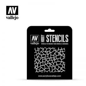 Vallejo   Stencils AV Vallejo Stencils - 1:32 Giraffe Camo WWII - VALST-CAM003 - 8429551986489