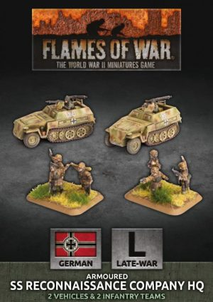 Battlefront Flames of War  SALE! German SS Reconaissance Company HQ - GBX153 - 9420020247208