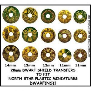North Star Oathmark  Oathmark Dwarf Shield Transfers 1 - DWARF(NS)1 -