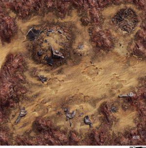 Fantasy Flight Games   Tabletop Gaming Mats Star Wars Legion: Desert Junkyard Gamemat - FFGSWS46 - 841333105532