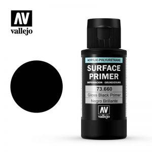 Vallejo   Metal Colour Primer: Gloss Black 60ml - VAL73660 - 8429551736602