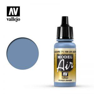 Vallejo   Model Air Model Air: UK Azure Blue - VAL108 - 8429551711081