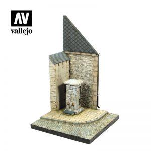 Vallejo   Vallejo Scenics Vallejo Scenics - Scenery: St.Corner w/waterpump Normandy - VALSC004 - 8429550000000