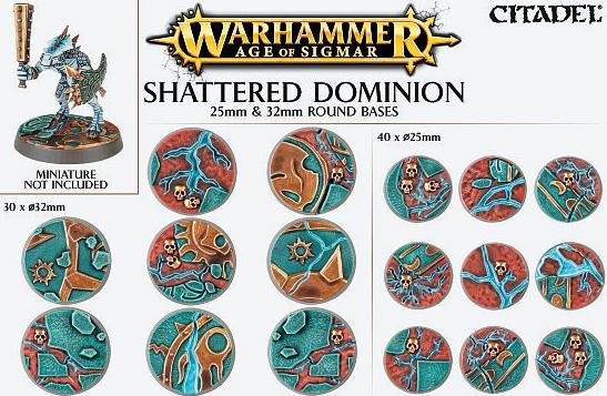 Games Workshop   Games Workshop Bases Shattered Dominion (25mm & 32mm) - 99120299033 - 5011921073115
