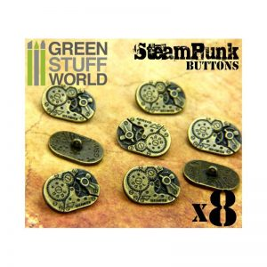 Green Stuff World   Costume & Cosplay 8x Steampunk Oval Buttons WATCH MOVEMENTS - Bronze - 8436554367429ES - 8436554367429