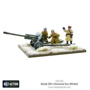 Warlord Games Bolt Action  Soviet Union (BA) Soviet ZIS-3 Divisional Gun (Winter) - 403014005 - 5060393708254