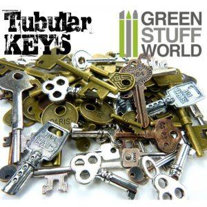 Green Stuff World   Modelling Extras Tubular KEYS Beads 85gr - 8436554367863ES - 8436554367863ES