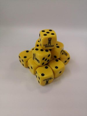 Outpost   Outpost Dice Outpost Dice: Yellow (16mm) - OPDICEYELLOW - OPYELL