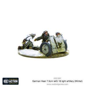 Warlord Games Bolt Action  Germany (BA) German Heer 7.5cm leIG 18 light artillery (Winter) - 403012001 - 5060393705451