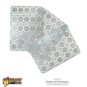 Warlord Games   Plain Bases 3 frames of 25mm bases - 845200001 - 5060393708179