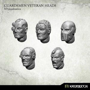 Kromlech   Imperial Guard Conversion Parts Guardsmen Veteran Heads (10) - KRCB165 - 5902216113718