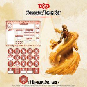 Gale Force Nine Dungeons & Dragons  D&D Extras D&D: Sorcerer Token Set (Player Board & 22 tokens) - GFN72503 - 9420020251090