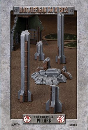 Gale Force Nine   Battlefield in a Box Gothic Industrial - Pillars (x1) - 30mm - BB600 - 9420020247925