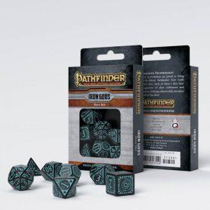 Q-Workshop   RPG / Polyhedral Pathfinder Iron Gods Dice Set (7) - SPAT67 - 9781601257550