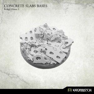 Kromlech   Concrete Slabs Bases Concrete Slabs Round 60mm Pattern 3 (1) - KRRB060 -