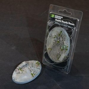 Gamers Grass   Battle-ready Urban Warfare Urban Warfare Bases Oval 105mm (x1) - GGB-UWO105 -