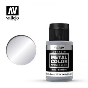 Vallejo   Metal Colour Metal Color - White Aluminium 32ml - VAL77706 - 8429551777063