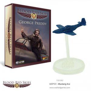 Warlord Games Blood Red Skies  Blood Red Skies Blood Red Skies: US P-51 Mustang Ace George Preddy - 772013002 - 5060393707066