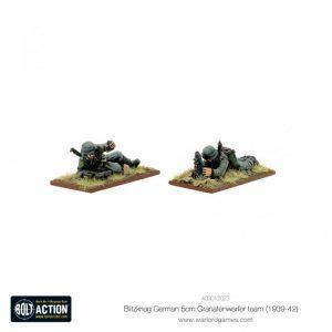 Warlord Games Bolt Action  Germany (BA) Blitzkrieg German5cm Granatenwerfer team (1939-42) - 403012023 - 5060572501799