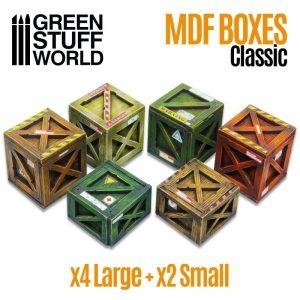 Green Stuff World   Green Stuff World Terrain Classic Wood Crates - 8436574507973ES - 8436574507973