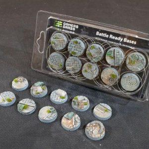 Gamers Grass   Battle-ready Urban Warfare Urban Warfare Bases Round 25mm (x10) - GGB-UWR25 -