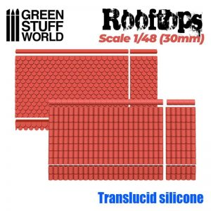 Green Stuff World   Mold Making Silicone Molds - Rooftops 1/48 (30mm) - 8436574505573ES - 8436574505573