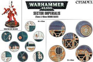 Games Workshop   Games Workshop Bases Sector Imperialis Base Pack (25mm, 40mm) - 99120199040 - 5011921073160