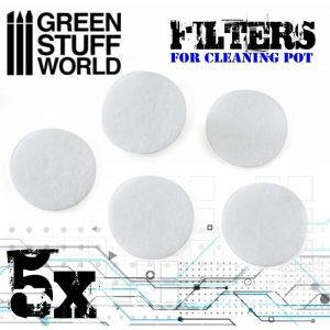 Green Stuff World   Airbrushes & Accessories Airbrush Cleaning Pot Filters - 8436574503739ES - 8436574503739