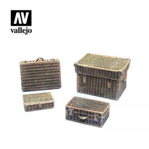 Vallejo   Vallejo Scenics Vallejo Scenics - 1:35 Wicker Suitcases - VALSC227 - 8429551984966