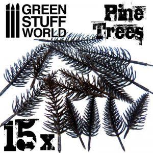Green Stuff World   Green Stuff World Terrain 15x Model PINE Tree Trunks - 8436554367870ES - 8436554367870