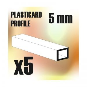 Green Stuff World   Plasticard ABS Plasticard - Profile SQUARED TUBE 5mm - 8436554366187ES - 8436554366187