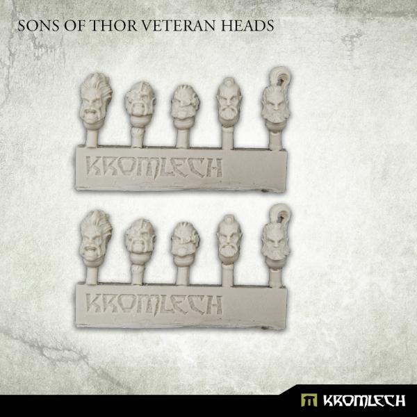 Kromlech   Legionary Conversion Parts Sons of Thor Veteran Heads - KRCB279 -