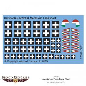 Warlord Games (Direct) Blood Red Skies  Blood Red Skies Blood Red Skies: Hungarian Air Force Decal Sheet - 7760910001 -