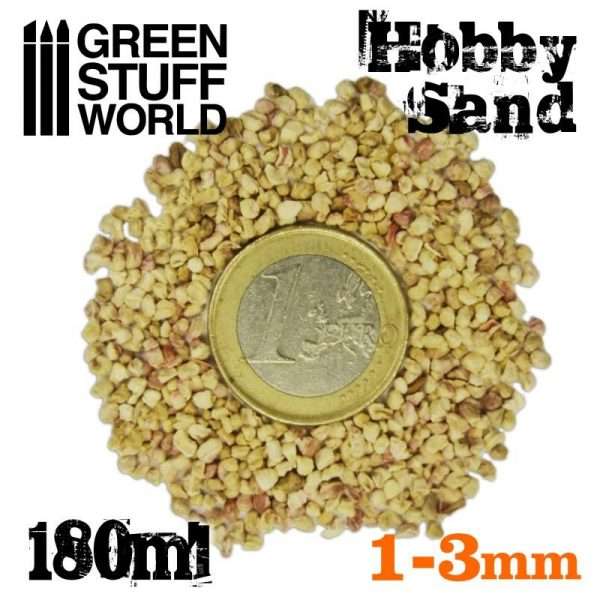 Green Stuff World   Sand & Flock Thick Hobby Sand 180ml - Natural - 8436554366774ES - 8436554366774