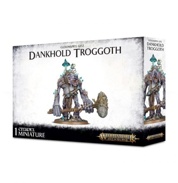 Games Workshop Age of Sigmar  Gloomspite Gitz Dankhold Troggoth / Trogboss - 99120209053 - 5011921113095