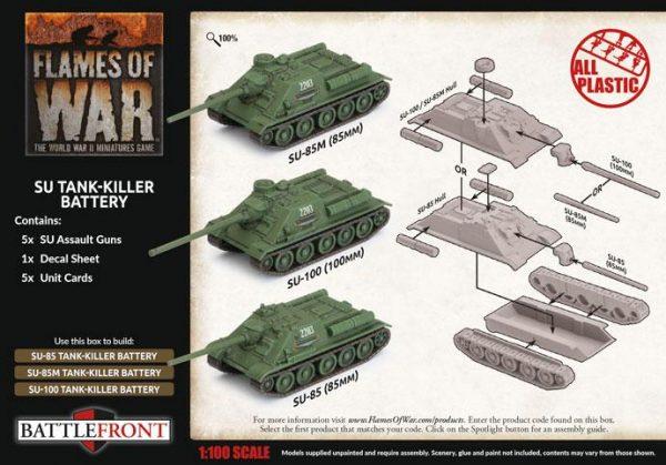 Battlefront Flames of War  SALE! Soviet SU Tank-Killer Battery - SBX64 - 9420020251366