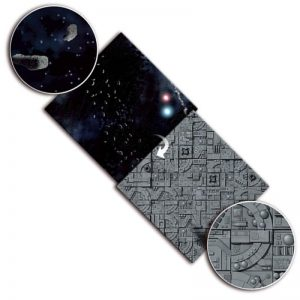 Gale Force Nine   Tabletop Gaming Mats Gaming Mat: Asteroid Field / Space Station - BB954 - 9420020239821