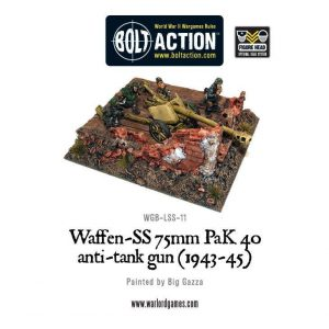Warlord Games Bolt Action  Germany (BA) Waffen-SS 75mm PaK 40 anti-tank gun - WGB-LSS-11 - 5060200846599