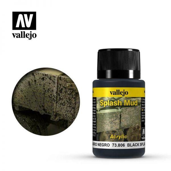 Vallejo   Weathering Effects Weathering Effects 40ml - Black Splash Mud - VAL73806 - 8429551738064